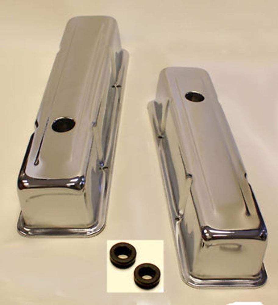 Sbc Small Block Chevy Tall chrome  Valve Covers 350 383