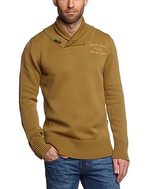 G Star RAW Sediment Shawl Coll Knit Sweater, Butternut, Size XXL
