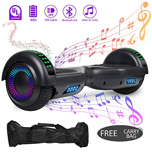 VEVELINE Hoverboard UL2272 Certified 6.5 inch Self Balancing Scooter with Colorful Flash Wheel Top...