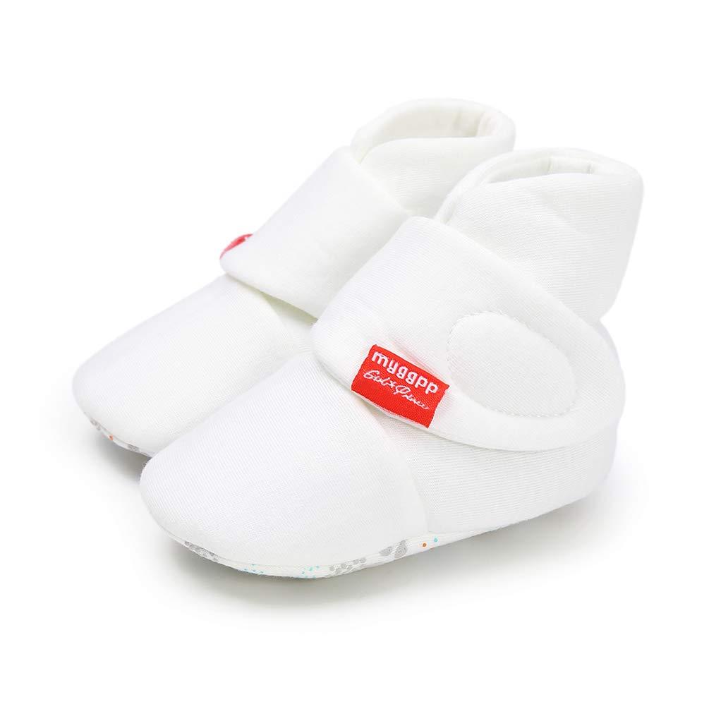 Hiver Blanc Mignonne Doux Coton Unisexe Antid/érapant B/éb/é des Chaussures No/ël Premier Anniversaire Cadeau Bottillons B/éb/é Fille