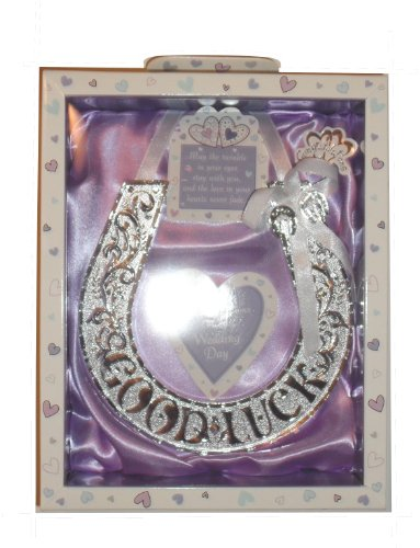 Good Luck Wedding Token Boxed Lucky Horseshoe Special Keepsake (Lilac)