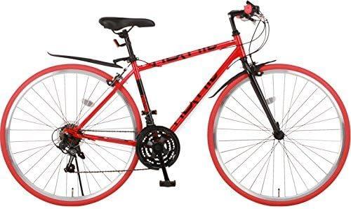 NEXTYLE(ネクスタイル) クロスバイク 700C シマノ製21段変速 適応身長155cm以上 NX-7021 レッド