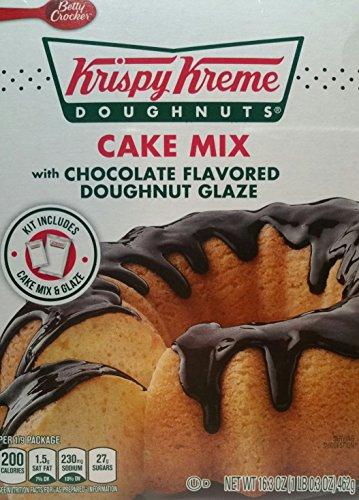 Krispy Kreme Doughnuts Cake Mix With Chocolate Flavored Doughnut Glaze, 16.3 oz (Pack of 3) (Chocolate Cake Donut)