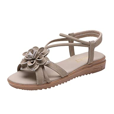 6c1530713ad Amazon.com  Limsea Clearance Sale! Summer Flat Sandals for Women  Comfortable Beach Shoes Open Toe Sandals Soft Slippers  Clothing