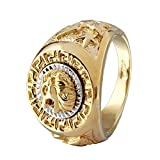 ANDI ROSE Fashion Men 18K Gold GP Cool Lion Eagle Star Ring Size 8 / 9 / 10 / 11.5 / 12.5
