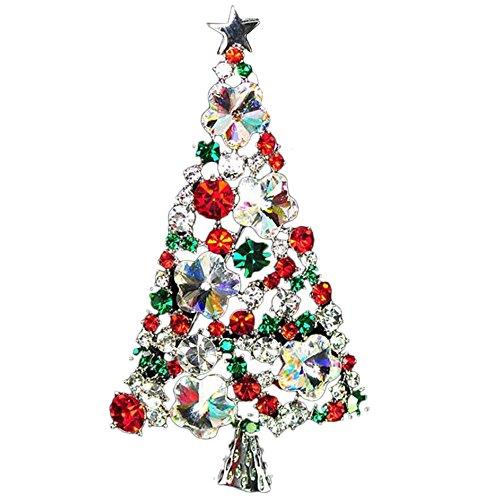 Vi.yoブローチ 合金製 キラキラ アクセサリー プレゼント クリスマスツリー クリスマス用品 贈り物 ギフトの商品画像