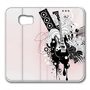 Enjoy happy life Samsung Galaxy S6 Case,,Abstract pink background map Custom Samsung Galaxy S6 High-grade leather Cases