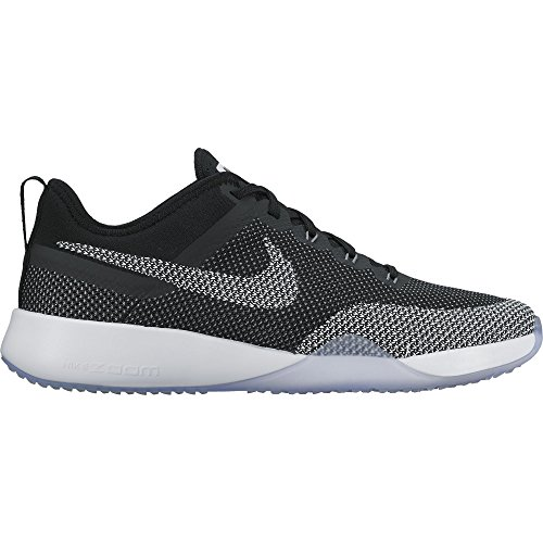 (NIKE Womens Air Zoom Dynamic Mesh Trainers Black/White/Cool Grey (9.5))