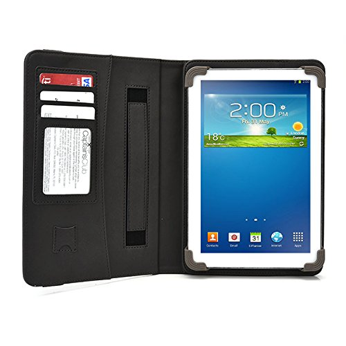 ASUS ZenPad S8 Z580C Tablet Case, UniGrip PRO Series - GRAY - By Cush Cases (Case Features Top Quality PU Leather with Bulit In Stand, Hand Strap, 3 Card Slots and SD Card Holder)