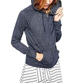SRF Women's Drawstring Zip Up Hoodie Sweater