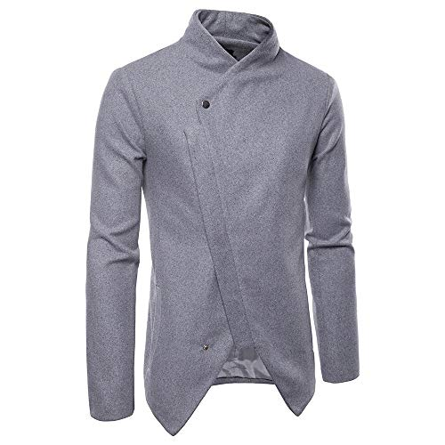 Sumen Men Clothing Clearance! Autumn Winter Shawl Collar Casual Long Sleeve Solid Jacket Coat by Sumen Men