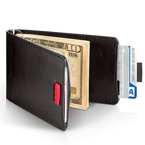 05. Distil Union Wally Bifold - Slim Genuine Leather Wallet for Men with Money Clip