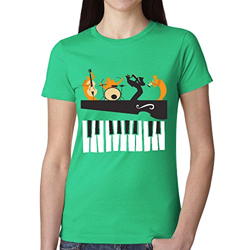 Design Jazz Musicians Silhouettes Lady O Neck T Shirt - Clothing Tom Ford Uk