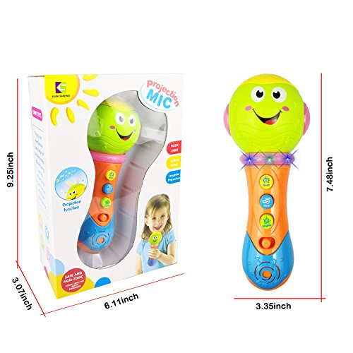 Kids Microphone for 3-12 Months Baby, SUGOO Microphone Toy for 1-2 Year Old Toddler Boys Girl Toy Microphone for 6-18 Months Kids Gift for 1 2 3 Year Old Girl Toy for 9-24 Months Girl Baby Birthday Pr