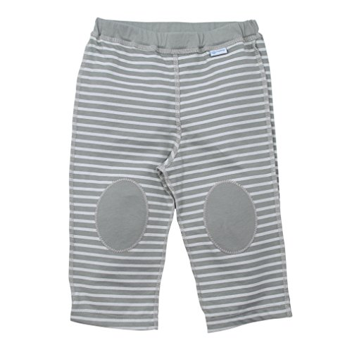 Organic Baby Yoga Pants (i play. Baby Organic Yoga Pants,Gray Stripe,18-24 M)