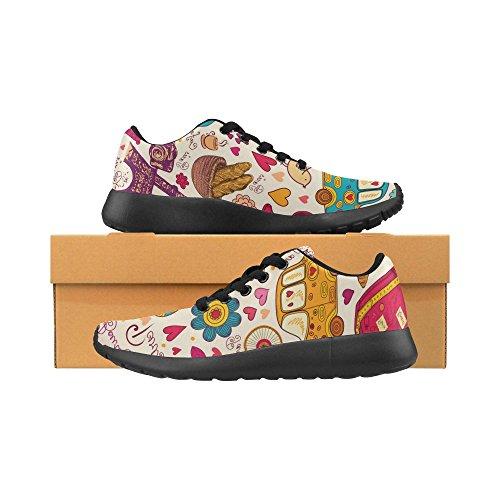 Chaussures De Course De Route Des Femmes Dimpressionprint Jogging Sports Légers Marchant Des Baskets Athlétiques Mignonne Voiture