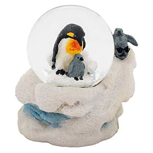 Globe Mm Water 45 (Cadona International, Inc Mommy Penguin and Chicks 3 x 3 Miniature 45MM Water Globe Table Top Figurine)