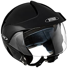 Studds Marshall Open Face Helmet (Black, XL)