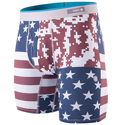 Stance The Boxer Brief Poly Blend Boxer Shorts Small Digi Camp Flag Red