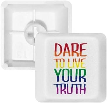 DIYthinker Vivan su Verdad LGBT Rainbow Flag PBT Nombres de ...