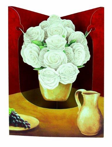 Santoro Interactive 3D Swing Greeting Card, Vase Of Roses