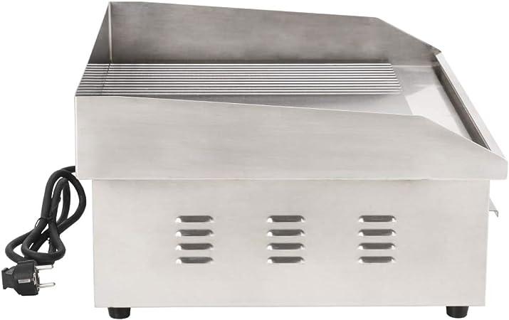 Festnight- Plancha Eléctrica de Cocina Potencia de 3000 W 54x41x24 cm Cromado: Amazon.es