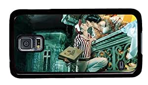 Hipster Samsung Galaxy S5 Case original princess pizza boy PC Black for Samsung S5