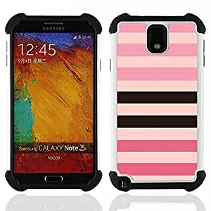For Samsung Galaxy Note3 N9000 N9008V N9009 - line pattern pink purple black equals Dual Layer caso de Shell HUELGA Impacto pata de cabra con im????genes gr????ficas Steam - Funny Shop -