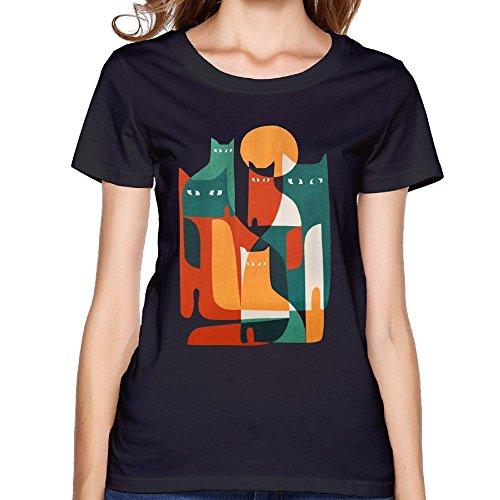 Super Furry Tiger Warr Womens Black Short Sleeve Shirts