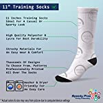 "English Springer Spaniel Dog Red Paw Heart Fun 11"" Cuff Crew Men Women Socks Medium 6"