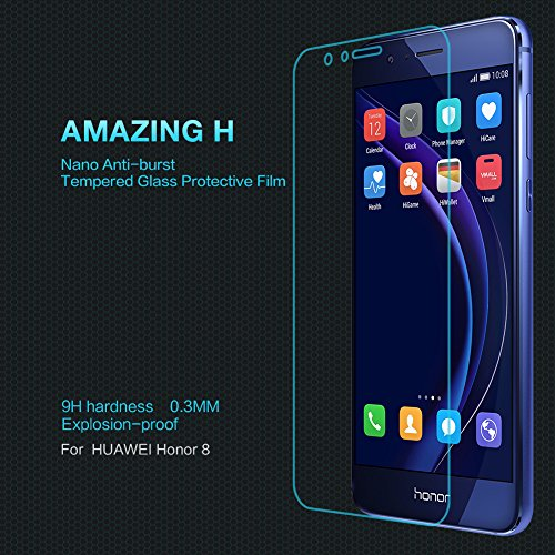 Huawei Honor 8 Glass Film , LWANG Nillkin 9h Amazing H 0.33mm Anti-burst Tempered Glass Film Anti-scratch Film Anti-explosion Screen Protector for Huawei Honor 8 (glass h)