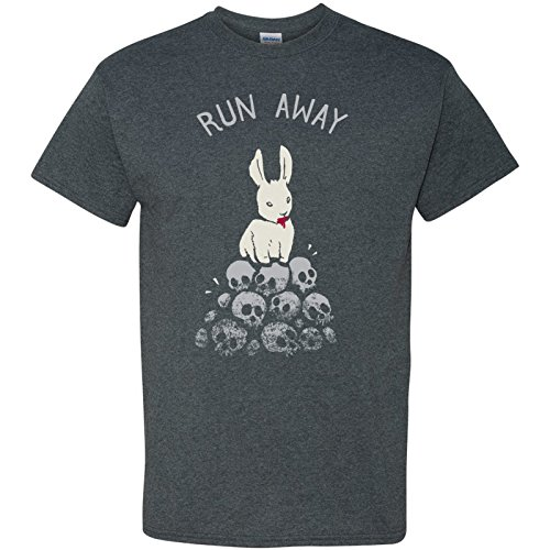 UGP Campus Apparel Run Away Basic Cotton T-Shirt - 2X-Large - Dark Heather Grey