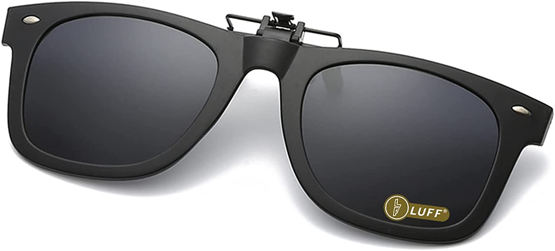 Polarized Clip On Flip Style Sunglasses UV400 Anti-Glare Driving Glasses UK