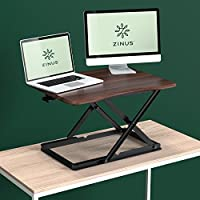 Zinus Smart Adjust Standing Desk / Height Adjustable Desktop Workstation, Espresso