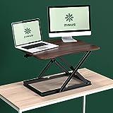 Zinus Smart Adjust Standing Desk / Height Adjustable Desktop Workstation / 28in x 21in / Espresso