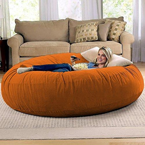 Jaxx 6 Foot Cocoon - Large Bean Bag Chair for Adults, Mandarin