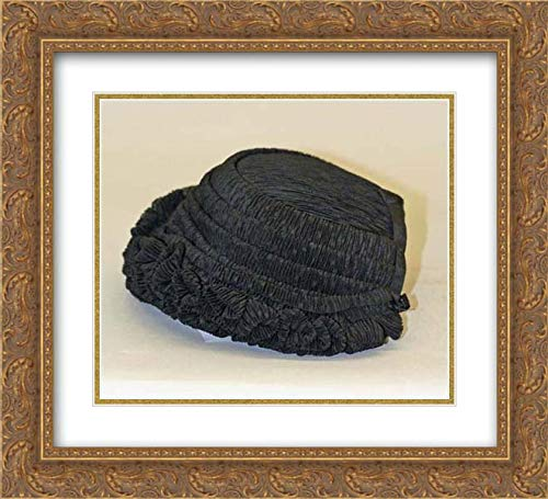 American Culture - 22x20 Gold Ornate Frame and Double Matted Museum Art Print - Mourning Bonnet