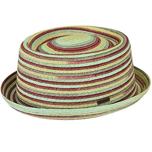 The Kangol Heritage Men's Space-Dyed Braid Porkpie Hat, River (Large) - Kangol Straw Braid