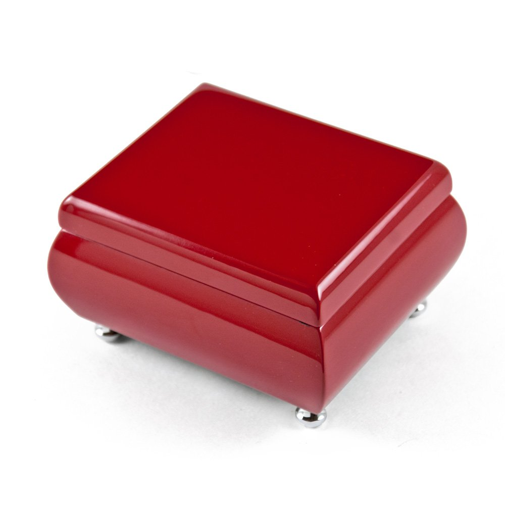 Gorgeous Venetian Red Musical Keepsake Jewelry Box - Over 400 Song Choices - English Country Garden