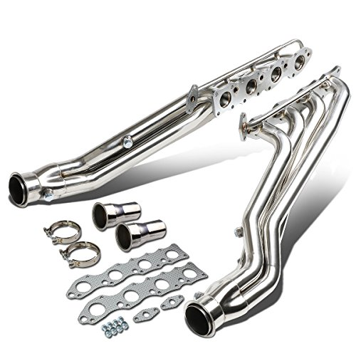 (For Tundra 5.7L V8 Stainless Steel 2PC 4-1 Long Tube Racing Exhaust Header Manifolds)