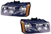 2003-2004 (03 04) Chevy Silverado Headlight Assembly - One Pair (Both Driver and Passenger Sides) - DOT Certified Chevrolet Headlights