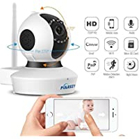 Puersit Wifi Wireless Security Cameras C7823 720P HD Pan Tilt IP Camera (Day/Night Vision,baby monitor,2 Way Audio,SD Card Slot, Alarm)