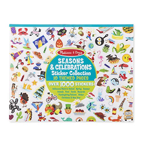 Melissa & Doug 4215 Sticker Collection Book: 1,000 Plus Stickers – Seasons and Celebrations, Multicolor ()