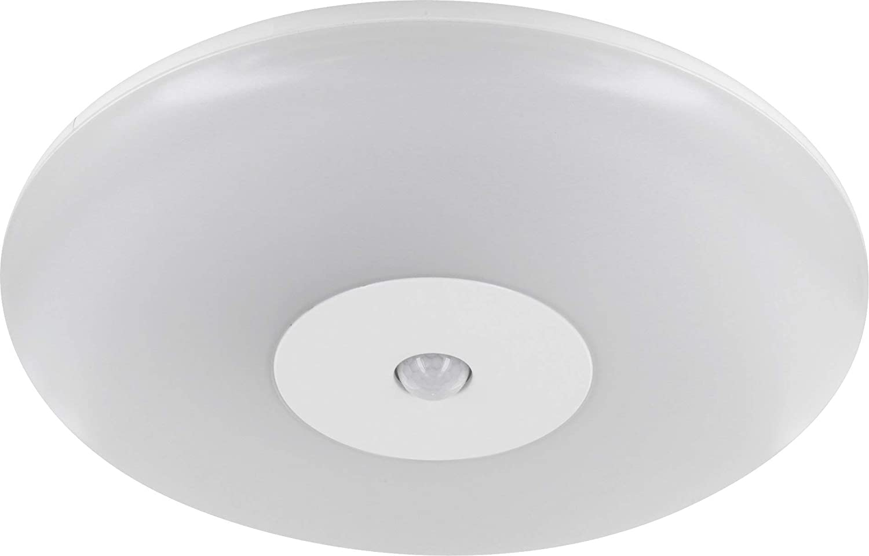 LED Slim - Lámpara de techo 15 W IP44 con detector de movimiento 360 ° - adecuado para baño Humedad - tagesweiß (4000 K): Amazon.es: Iluminación