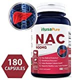 Best N-Acetyl Cysteine (NAC) 900mg 180caps (NON-GMO & Gluten Free) Liver Support, Detoxification, and Immune Function - Amino Acids to Support Antioxidant Defense - 100% MONEY BACK GUARANTEE!