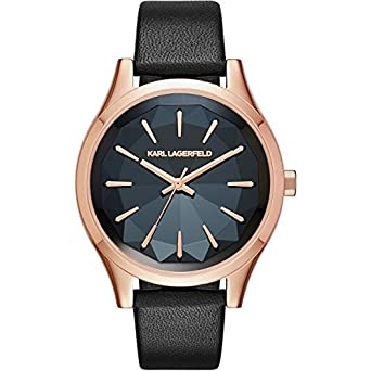 Karl Lagerfeld Damen-Armbanduhr Analog Quarz One Size - grau - schwarz