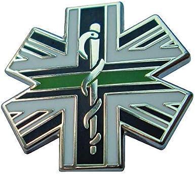 Fina Línea Verde Estrella de la Vida Union Jack Metal Pisacorbatas Solapa Insignia: Amazon.es: Ropa y accesorios