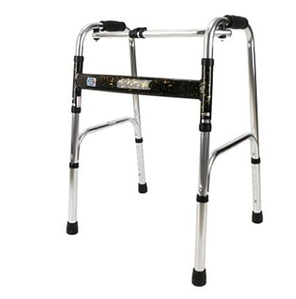 Ddpp Anciano Walker Walker Disability Handle Hemipléjico Amplificador De Aleación De Aluminio Cuatro Pies Vuelta