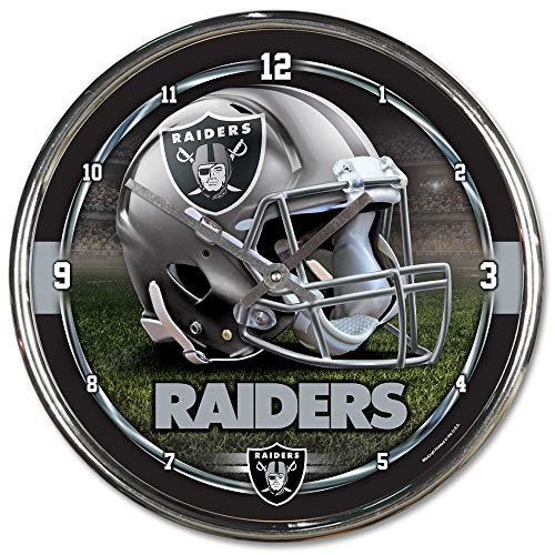 Wincraft NFL Oakland Raiders Chrome - Oakland Chrome Clock Raiders