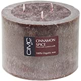 Cinnamon Spice Scented 3 Wick Chocolate Colored Handmade Candle